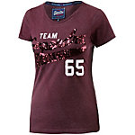 Superdry T-Shirt Damen bordeaux