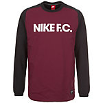 Nike F.C. Sweatshirt Herren schwarz / aubergine