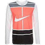 Nike Practice Court Logo Tennisshirt Herren weiß / korall