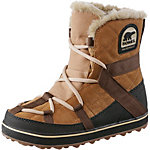 Sorel Glacy Explorer Shortie Winterschuhe Damen braun/weiß