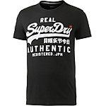 Superdry T-Shirt Herren schwarz/weiß