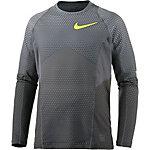 Nike Pro Hyperwarm Funktionsshirt Herren grau