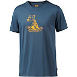 FJÄLLRÄVEN Keep Trekking Printshirt Herren blau