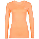 Nike Pro Dry Funktionsshirt Damen orange / weiß