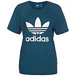 adidas Boyfriend Trefoil T-Shirt Damen blau / weiß