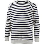 Cleptomanicx Classic Stripe Sweatshirt Herren weiß/blau