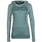 Nike Dry City Wool Laufhoodie Damen grüngrau