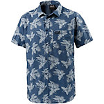 Jack Wolfskin Hot Chili Tropical Kurzarmhemd Herren blau/allover