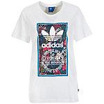adidas Tongue Label Boyfriend Printshirt Damen weiß / bunt