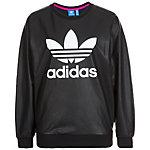 adidas Trefoil Sweatshirt Damen schwarz / weiß
