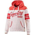 Superdry Sweatshirt Damen weiß/rot
