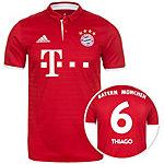 adidas FC Bayern München 16/17 Heim Thiago Fußballtrikot Herren rot / weiß