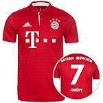 adidas FC Bayern München 16/17 Heim Ribéry Fußballtrikot Herren rot / weiß