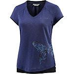 VAUDE Skomer Printshirt Damen dunkelblau