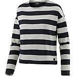 Only Sweatshirt Damen beige gestreift