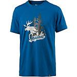 Bergans Elk Printshirt Herren blau