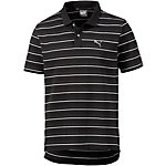 PUMA Sports Stripe Poloshirt Herren schwarz