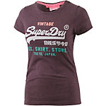 Superdry T-Shirt Damen weinrot