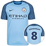 Nike Manchester City 16/17 Heim Gündogan Fußballtrikot Herren hellblau / blau