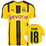 PUMA Borussia Dortmund 16/17 Heim Rode Fußballtrikot Herren gelb / schwarz