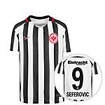 Nike Eintracht Frankfurt 16/17 Heim Seferovic Fußballtrikot Kinder weiß / schwarz
