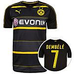 PUMA Borussia Dortmund 16/17 Auswärts Dembélé Fußballtrikot Herren schwarz / anthrazit