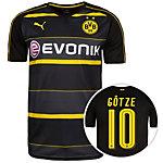 PUMA Borussia Dortmund 16/17 Auswärts Götze Fußballtrikot Herren schwarz / anthrazit
