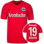 Nike Eintracht Frankfurt 16/17 Auswärts Abrah Fußballtrikot Herren rot / schwarz