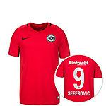 Nike Eintracht Frankfurt 16/17 Auswärts Sefer Fußballtrikot Kinder rot / schwarz