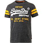 Superdry T-Shirt Herren navy/gelb