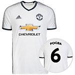 adidas Manchester United 16/17 3rd Pogba Fußballtrikot Herren weiß / grau