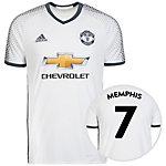 adidas Manchester United 16/17 3rd Memphis Fußballtrikot Herren weiß / grau