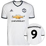 adidas Manchester United 16/17 3rd Ibrahimović Fußballtrikot Herren weiß / grau