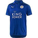 PUMA Leicester 16/17 Home Fußballtrikot Herren blau/gold