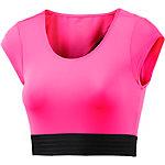 PUMA Explosive Crop T-Shirt Damen neonpink/schwarz