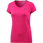 Nike Dri-Fit Knit Laufshirt Damen fuchsia/melange