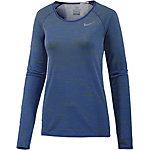 Nike Dri-Fit Knit Laufshirt Damen blau