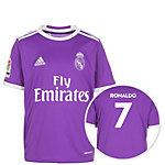 adidas Real Madrid 16/17 Auswärts Ronaldo Fußballtrikot Kinder lila / weiß