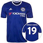 adidas FC Chelsea 16/17 Heim Costa Fußballtrikot Herren blau / weiß