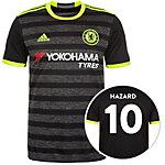 adidas FC Chelsea 16/17 Auswärts Hazard Fußballtrikot Herren schwarz / gelb