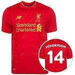NEW BALANCE FC Liverpool 16/17 Heim Henderson Fußballtrikot Herren rot / orange
