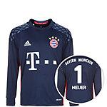 adidas FC Bayern München 16/17 Heim Neuer Torwarttrikot Kinder dunkelblau / rot