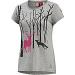 OCK Printshirt Damen dunkelgrau
