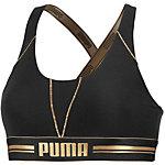PUMA Bustier Damen schwarz/gold