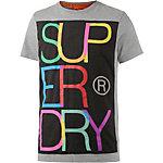 Superdry T-Shirt Herren grau/bunt