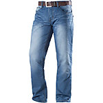 Crosshatch New Farrow Loose Fit Jeans Herren light washed denim