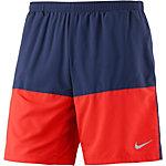 Nike Distance Laufshorts Herren blau/orange