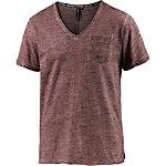 M.O.D V-Shirt Herren rot melange