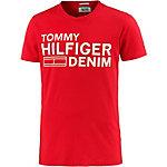 Tommy Hilfiger T-Shirt Herren rot/weiß