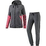 adidas Trainingsanzug Damen grau/pink/melange
